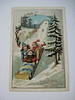 """Vintage Christmas Victorian Trade Card for """"Woolson Spice Co."""" Lion Coffee *"""