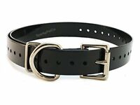 Garmin Compatible 3/4 Inch Replacement Dog Collar Black Color Made in USA!