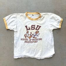 60s 70s Artex LSU School Of Medicine Tigers T Shirt Ringer Large New Orleans