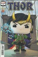 Thor #1 Loki Funko POP PX Previews Exclusive variant cover 2020 Marvel Comics