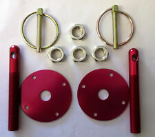 bonnet pin kit speedway racing drift drag,rally,141-205 ,red,