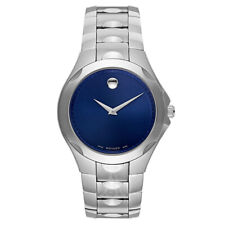 Men's Movado 0606380 Luno Blue Dial Stainless Steel Quartz Watch