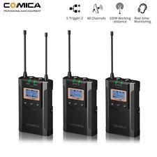 Wireless Comica Camera Dual Lavalier Microphone 48CH for Smartphone Camera Canon