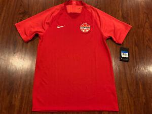 2019-20 Nike Breathe Men's Canada National Team Home Soccer Jersey Medium M