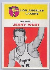 """1961-62  JERRY WEST - Fleer """"ROOKIE REPRINT"""" Basketball Card # 43 - L.A. LAKERS"""