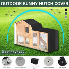 Outdoor Rabbit Hutch Cover Waterproof Large Double Garden Pet Bunny Cage Covers#