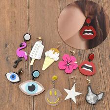1 Pair Acrylic Pendant Drop Earrings Kawaii Ear Stud Women Jewellery Gift