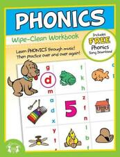 NEW 10pg Wipe-Clean Phonics Reusable Workbook Preschool Kindergarten Classroom
