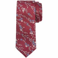 Ted Baker Men's Deep Pink Canary Floral Jacquard Silk Tie - BNWT - RRP £49