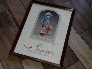 R. JOHN WRIGHT DOLLS SIGNED WINNIE THE POOH POSTER! TAMPA DOLL CLUB!