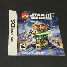 LEGO Star Wars III 3 The Clone Wars Nintendo DS  MANUAL ONLY NO GAME OR CASE