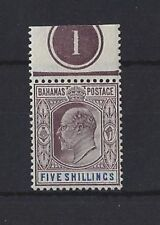 Single Edward VII (1902-1910) Bahamian Stamps