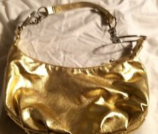 Purse Shoulder Gold Bag Big Hoops Zipper Top Inside 2 Slip pockets 1 Zip Pocket