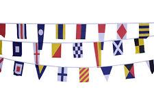 NAUTICAL BUNTING 12.6M 40 FLAGS - POLYESTER SIGNALS BANNER SAILING BOATS UK SHOP