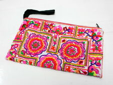 Hmong Embroidered cluth colorful floral pattern pink