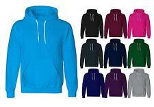 Mens Plain Pullover Fleece Hoodie Plane Womens Gym Sports Wear Sweatshirt Lot