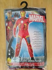 Mens Marvel Iron Man Large Deluxe Costume Official Avengers Outfit Adult.
