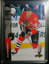 1994-95 Upper Deck #36 Patrick Poulin Blackhawks Hockey Error Wrong Name Card