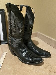 Paul Bond Men's Custom Teju Lizard skin Boots 10D.