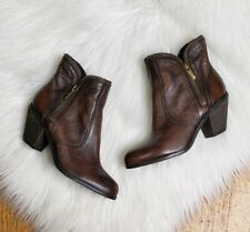 Sam Edelman Women's Size 6 Brown Leather Ankle Boots Booties