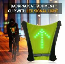 LED Bicycle Saddle Backpack Vest Turn Signal Indicator LED Light Up with remote