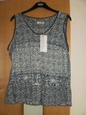 M & S Per Una Cross Stitch Burnout Vest Top Size 18 BNWT RRP £25