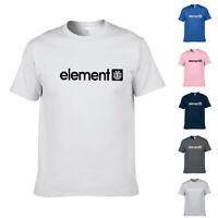 ELEMENT MENS T SHIRT.NEW BLAZIN GREY COTTON SHORT SLEEVED SKATER TOP T-SHIRT