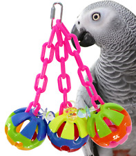 1273 TRI CHAIN BALL BIRD TOY parrot cage toy cages african grey cockatoo macaw
