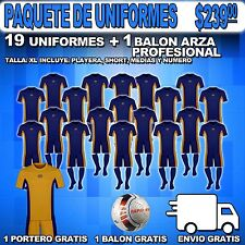 Uniform Arza Colegial AR-47 for Soccer. Package $ 239.00, Color Marine-Gold