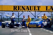 Damon Hill & David Coulthard & Alain Menu & Will Hoy Renault 1995 Photograph