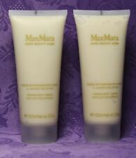 2 Pc LOT-- MaxMara (3.5oz/100ml Each) Firming Body Cream With Cotton Extract