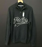 NWT Mens Polo Ralph Lauren Scarf Gray w//Awesome University Polo Bear Logo