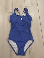 Triathlon Women's  Blue IRONMAN Swim suit keyhole back WORN ONCE SIZE 8S EUC