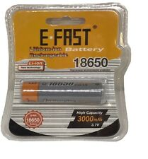 E-FAST Li-ion 18650 BATTERY HIGH CAPACITY 3.7v 3000mAh Lithium-ion Rechargeable