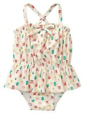 GAP Baby / Toddler Girl 18-24 Months Birdhouse Ruffle One-Piece Bathing Suit