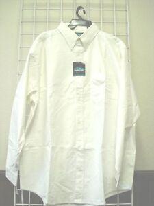 Mens Size 6XL Dress/Casual Shirt, WHITE, 100% Cotton, Oxford Style,6X