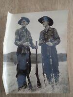 Vintage Australian Photo Brother hunting . ( B1)
