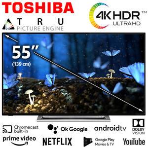 Toshiba TV 55 Zoll Fernseher Smart HDR 4K HD Dolby UHD Android Netflix Prime NEU