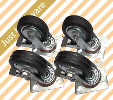 """4 X 4"""" HEAVY DUTY SWIVEL Castor Wheel 100mm 4 Swivel with Brake Caster Wheels."""