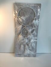 NEW XMAS BOHEMIAN White Large Dreamcatcher w/ Pearls White Decoration Wall Room