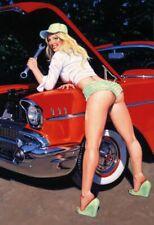 Auto Riparazione Pin Up Girl Segno Metallo Insegna ad Arco Stagno 20 x 30 CM