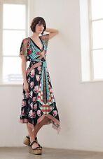 NWT Designer Short Sleeve Arabesque Dress *Size UK 8 - US 4