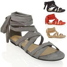 Evening Gladiators Faux Suede Women's Sandals & Beach Shoes