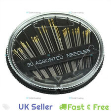 30 Piece Assorted Hand Stainless Steel Sewing Needles Embroidery Mening Case DIY