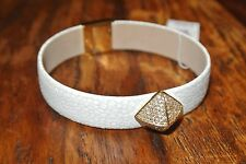 NWT Michael Kors White Stingray Pyramid Leather Gold Tone Bracelet $ 125