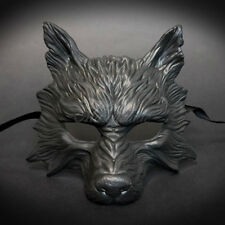 2017 All Black Humble, Hungry & Scary Wolf Mask Unisex Resin Masquerade Mask