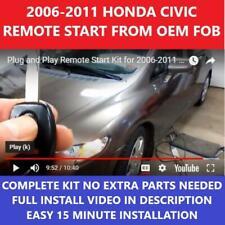 Plug Amp Play Remote Start 2006 2011 Honda Civic Fits Honda