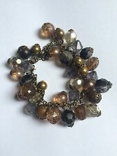 Accessorize Charm Bracelet Brown, Originally Brought For £12 Chunky Arm Candy