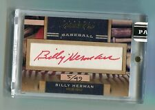 Billy Herman 2011 Panini Limited Cuts Cut Auto #5/49 Cubs HOF