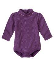New Gymboree purple bodysuit girl 3-6 m Cuddly Lambs